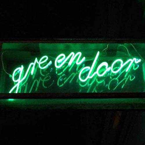 Green Door Bar Icon